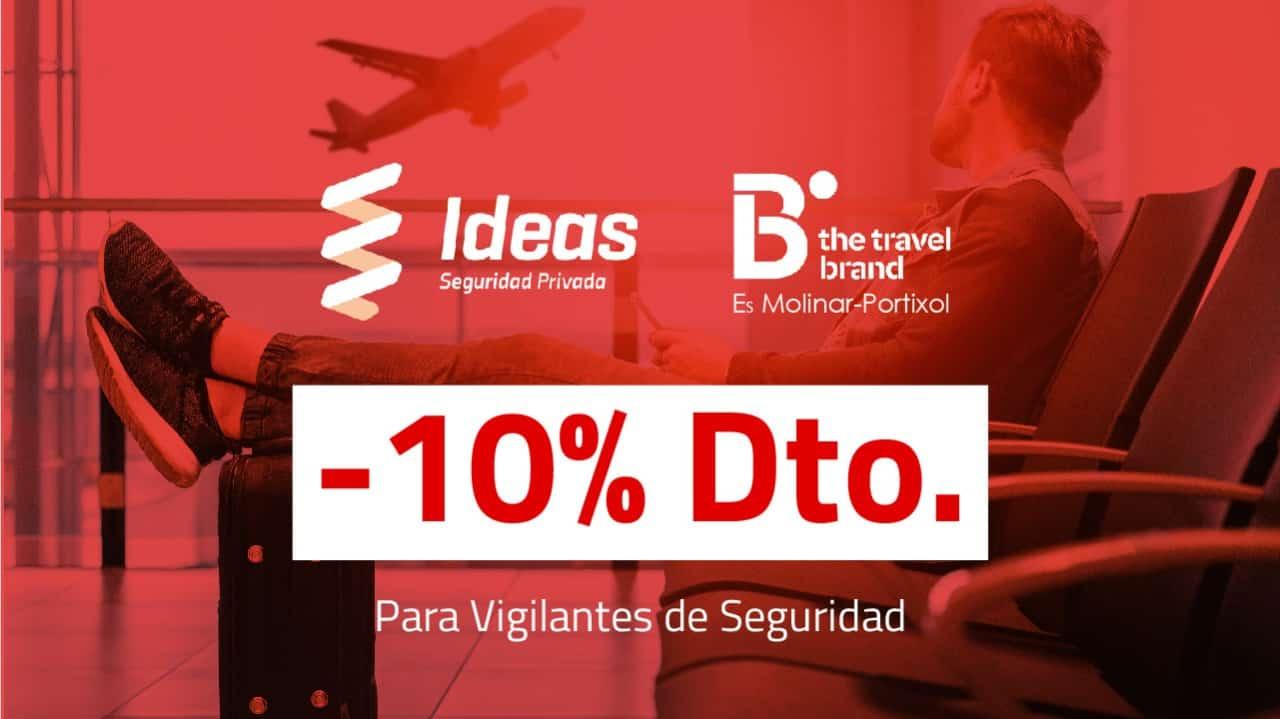 Vigilante de Seguridad: 10% de descuento en viajes