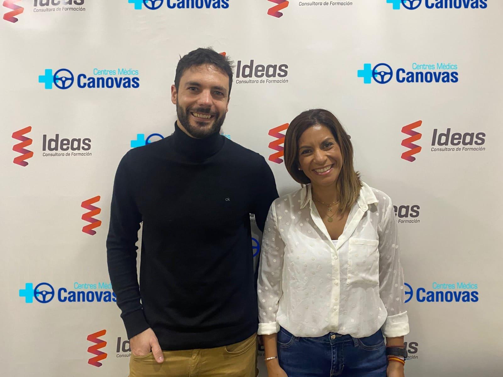 Firma de convenio entre Ideas y Centres Mèdics Canovas