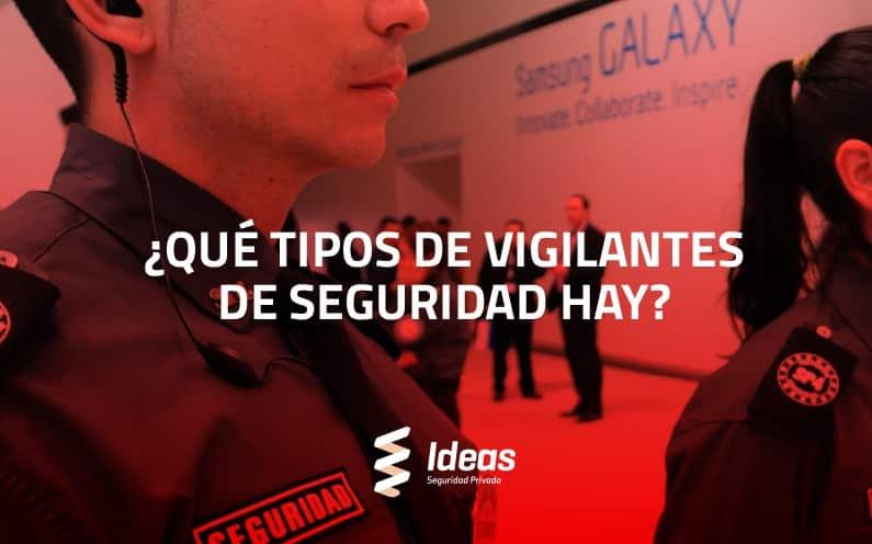 ¿Qué tipos de Vigilantes de Seguridad hay?